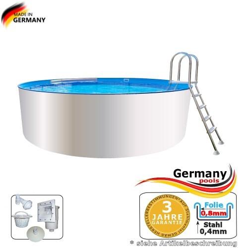 3,00 x 0,90 m Poolbecken Weiss