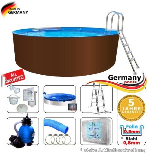 450 x 125 cm Stahl-Pool Set