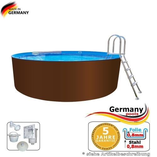 5,00 x 1,25 m Stahl-Pool