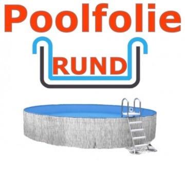 5,00 x 1,35 m x 0,8 mm Poolfolie rund mit Einhängebiese