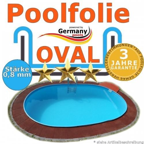 7,15 x 4,00 x 1,20 m x 0,8 Poolfolie bis 1,50 m