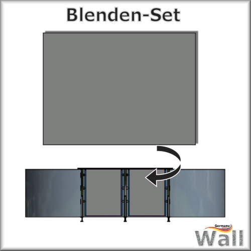 Germany-Pools Wall Blende A Tiefe 1,25 m Edition German-Dream Edelstahl