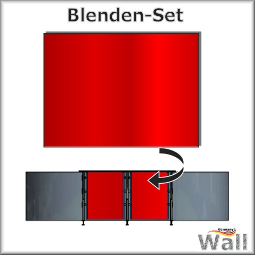 Germany-Pools Wall Blende B Tiefe 1,25 m Edition Red