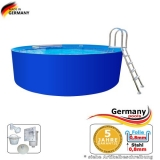 4,60 x 1,25 m Stahlwand Pool