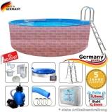450 x 120 cm Poolset Gartenpool Pool Komplettset Brick