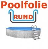5,00 x 1,20 m x 0,8 mm Poolfolie rund mit Einhängebiese