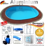 5,5 x 3,6 x 1,50 m Swimmingpool Alu Pool Komplettset