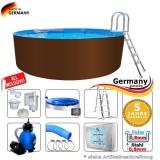 550 x 125 cm Stahl-Pool Set