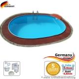 6,10 x 3,60 x 1,35 m Schwimmbecken