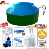7,25 x 4,60 x 1,25 m Achtform-Stahlwandpool Set Stahl-Pool