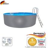 Pool mit Edelstahlwand 7,3 x 1,25 Edelstahlpool