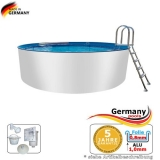Aluwand Becken 7,30 x 1,50 m Aluminium-Swimmingpool