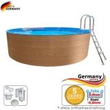 8,00 x 1,20 Holzpool Dekor Holz Design Pool Holz-Optik