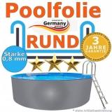 8,00 x 1,20 m x 0,8 Poolfolie rund bis 1,50 m