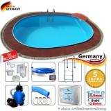 8,70 x 4,00 x 1,20 m Pool oval Komplettset