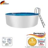 Aluwand Becken 3,50 x 1,50 m Aluminium-Swimmingpool