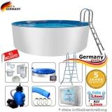 Aluwand Pool 300 x 125 Alupool Komplettset Aluminium-Pool