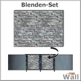 Germany-Pools Wall Blende C Tiefe 1,20 m Edition Stone