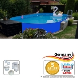 Ovalpool Blau 623 x 360 x 125 cm