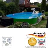 Ovalpool Grün 800 x 400 x 125 cm
