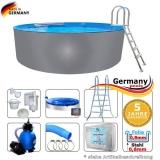 Pool aus Edelstahl 400 x 125 cm Edelstahlpool Komplettset