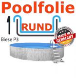 Poolfolie 5,0 x 1,2 m x 1,0 mm mit Keilbiese
