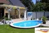 7,37 x 3,6 x 1,25 Alu Schwimmbecken Swimmingpool Komplettset