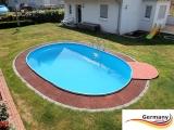 7,00 x 3,50 x 1,25 m Alu Ovalpool Ovalbecken Pool oval