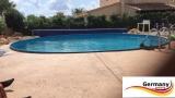 7,30 x 1,25 m Stahlwand Pool
