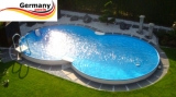 4,70 x 3,00 x 1,25 m Achtform-Stahlwandbecken Poolbecken