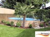 4,50 x 1,25 m Stahl-Pool