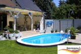 6,3 x 3,6 x 1,25 m Edelstahl Ovalpool Einbau Pool oval Komplettset