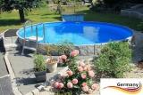 Pool aus Edelstahl 730 x 125 cm Edelstahlpool Komplettset