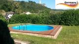 5,5 x 3,6 x 1,25 Alu Schwimmbecken Swimmingpool Komplettset