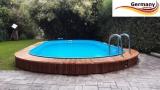Ovalpool Rot 585 x 350 x 125 cm