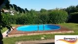 Ovalbecken Grün 7,15 x 4,0 x 1,25 m Komplettset