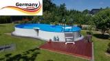 6,25 x 3,60 x 1,50 m Achtformpool-Alu Achtformbecken-Alu Pool
