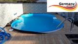 6,25 x 3,60 x 1,25 m Edelstahl-Achtformpool Achtformbecken Pool