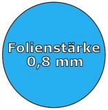 525 x 320 x 150 cm x 0,8 Poolfolie mit Keilbiese Ovalpool