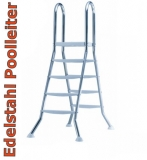 8,55 x 5,00 x 1,25 m Edelstahl-Achtformpool Komplettset