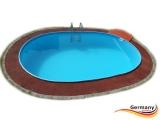 Ovalpool Rot 870 x 400 x 125 cm