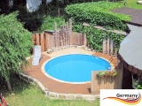 3,50 x 1,25 m Stahlwand Pool