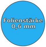 Poolfolie acht 6,25 x 3,60 x 1,35 m x 0,6 Achtformpool