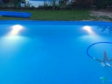 Ausstanzung für Pool-Beleuchtung im Mantel Stahlwandpool, Edelstahlpool, Alupool
