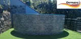 500 x 120 cm Poolset Stone Pool Steinoptik