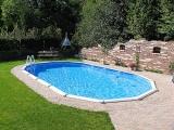8,50 x 4,90 x 1,32 m Ovalpool Center Pool oval freistehend
