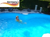 5,25 x 3,20 x 1,50 m Achtformpool-Alu Achtformbecken-Alu Pool